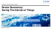 Saving The Internet of Things: Presentation to Facebook