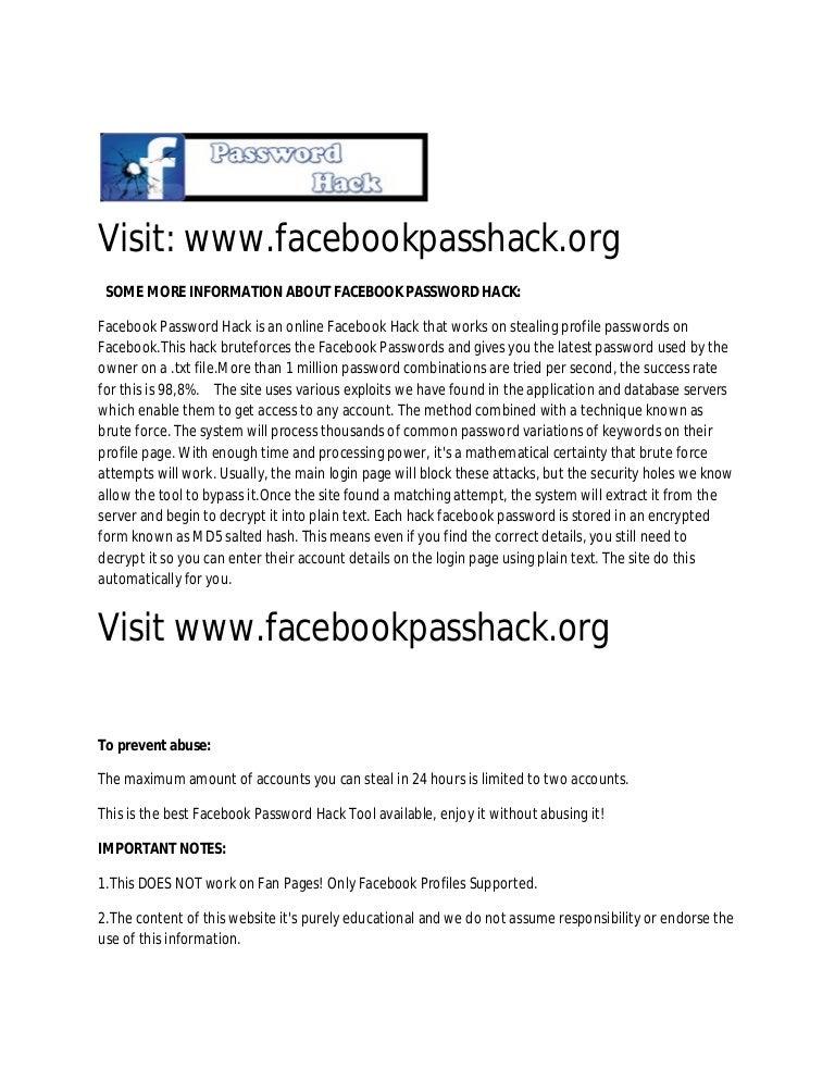 learn how to hack facebook facebook password hack rh slideshare net Facebook Users 2017 Facebook Post