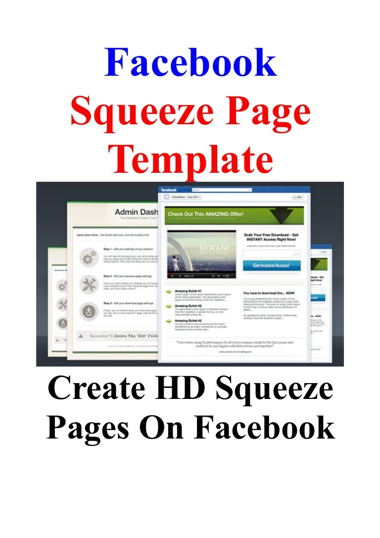 Facebook Squeeze Page Template: Create HD Squeeze Pages On Facebook