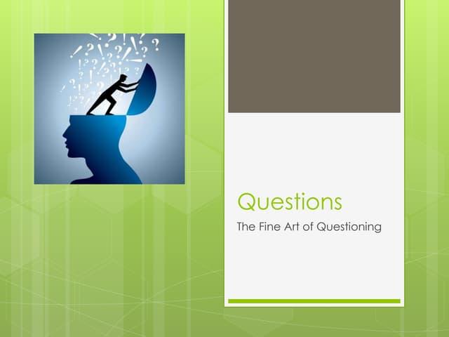 Facilitative Questions
