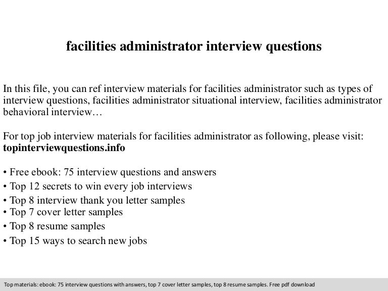 Facilities Administrator Cover Letter Production Management Resume ...