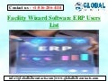Facility Wizard Software ERP Users List
