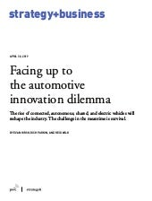 Facing up to  the automotive  innovation dilemma