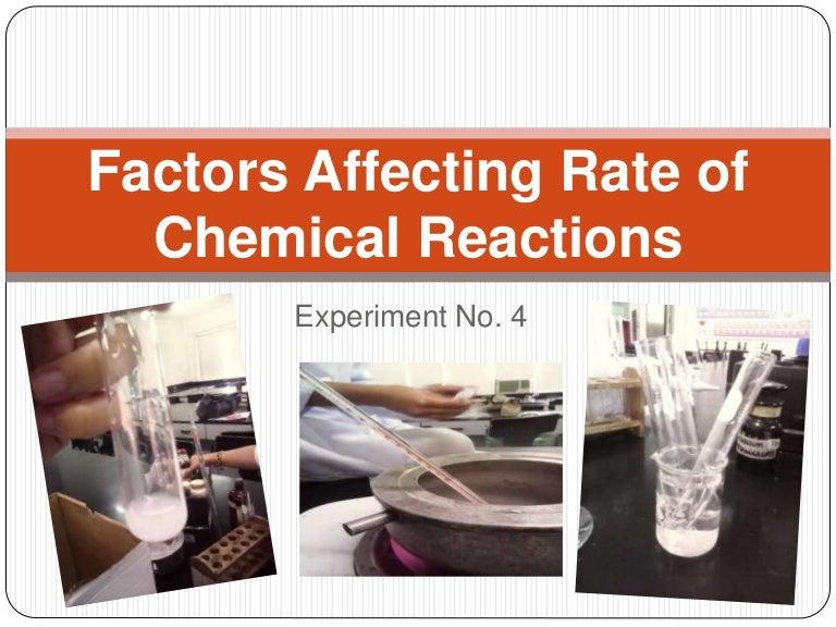 factors affecting reaction rates lab