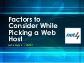 Factors to consider while picking a web host
