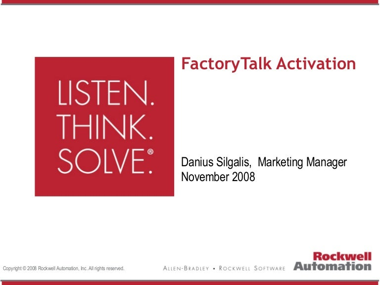 rockwell activation manager user manual