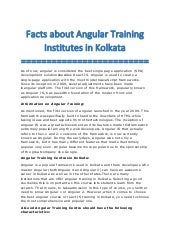 Facts about angular training institutes in kolkata converted