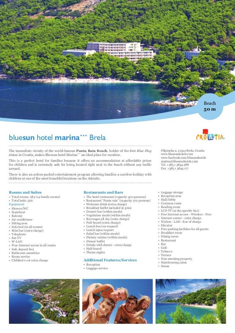 Bluesun Hotel Marina in Brela, Makarska Riviera, Croatia