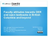 Faculty attitudes towards OER and open textbooks in British Columbia and Beyond