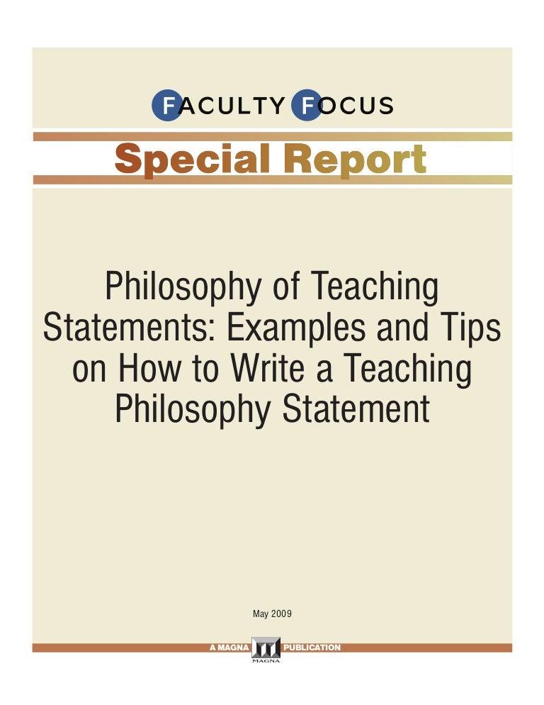 Philosophy of education essay