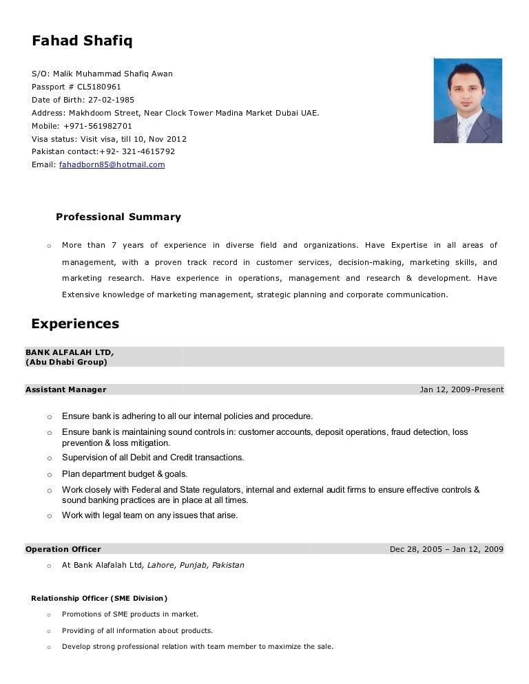 Fantastisch Lebenslauf In Dubai Für Accountants Zeitgenössisch ...