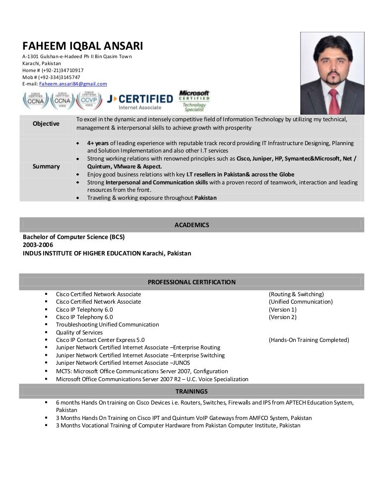 Network Engineer Resume Free Samples Examples Format VisualCV