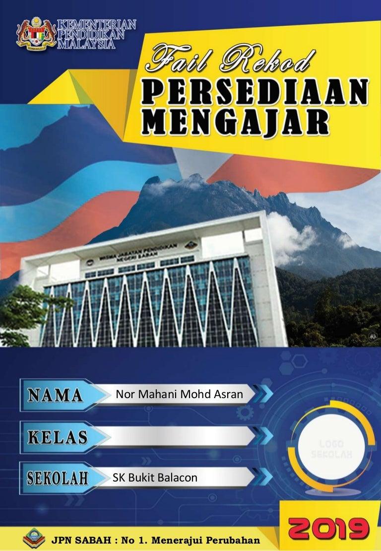 Fail Rekod Persediaan Mengajar 2019 Edisi Sabah By Mr Mu