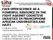 Fair open science as a powerful resource in the fight against cognitive injustice in African and Haitian universities