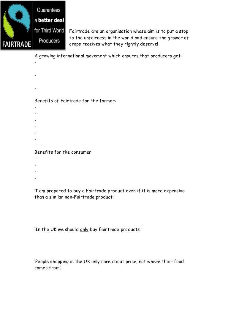 worksheet Producers And Consumers Worksheet fairtradeworksheet 110427034948 phpapp01 thumbnail 4 jpgcb1303876789