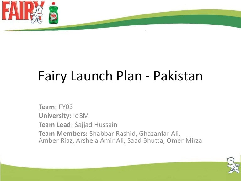 Fairy Launch Plan Pakistan