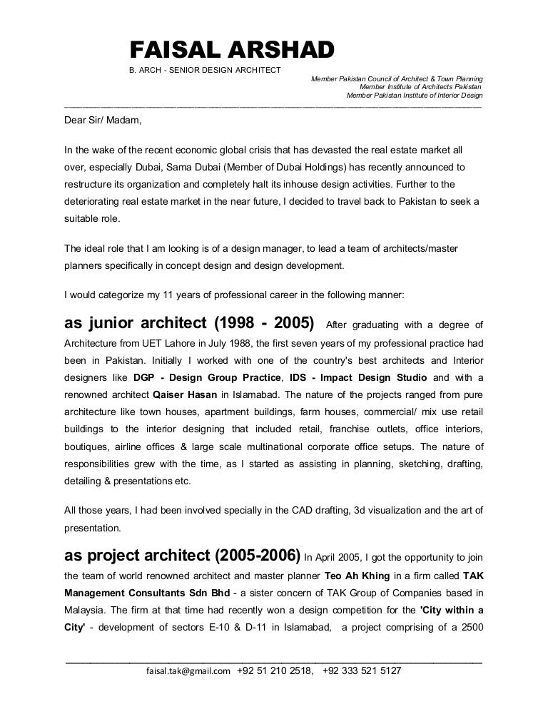 cover letter architecture firm