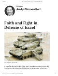 Faith and Fight In Defense of Israel