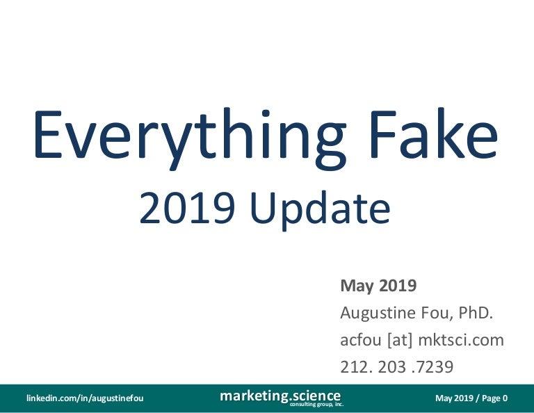 Fake Everything 2019 Update