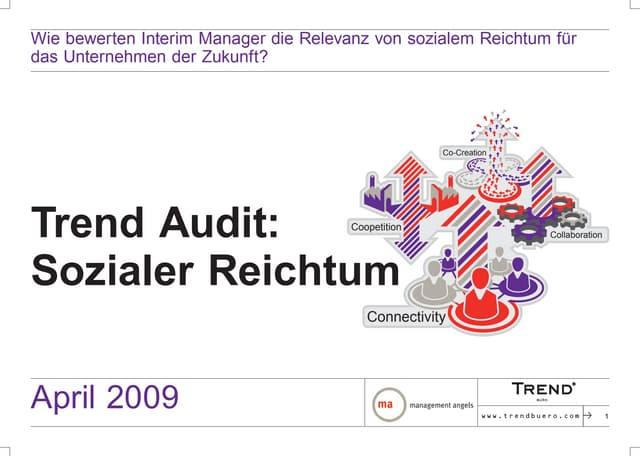 Trend Audit 2009. Sozialer Reichtum