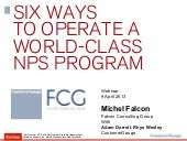 Six Ways to operate a world-class Net Promoter Program