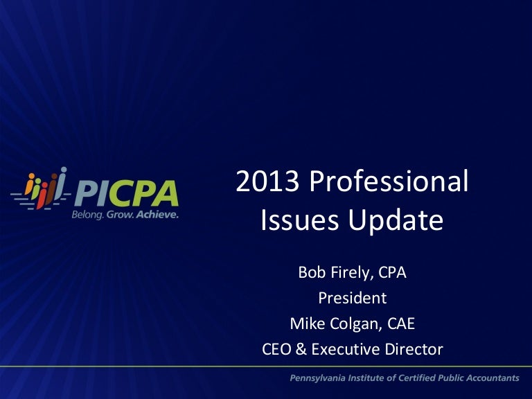 Professional issues affecting the cpa profession nationally and in pe fandeluxe Choice Image