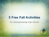 Free Fall Activities for High School Homeschool