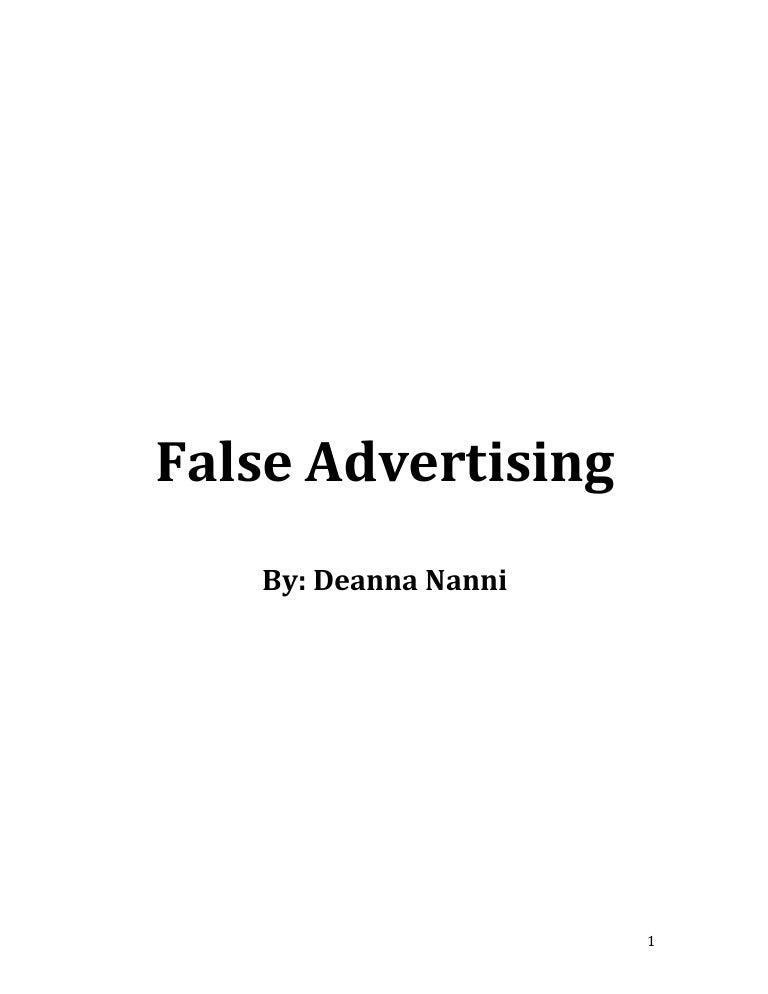 false advertising research paper