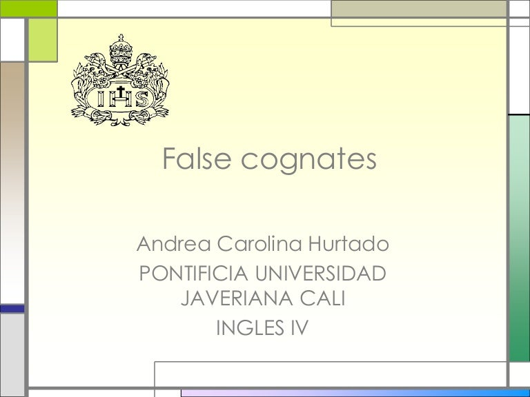 what is the meaning of the false cognate carpeta