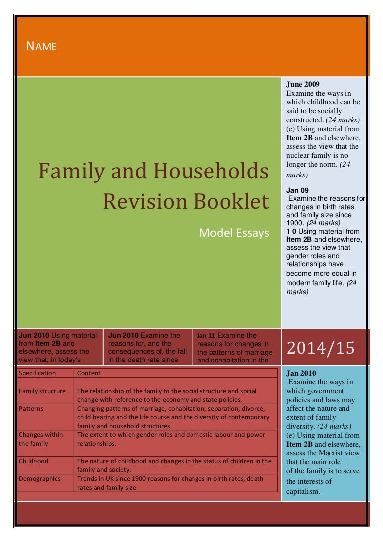 nuclear family advantages and disadvantages essay