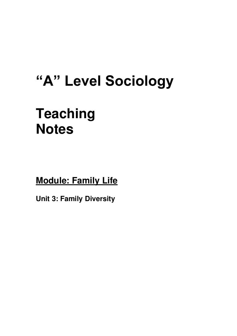 family diversity teaching notes