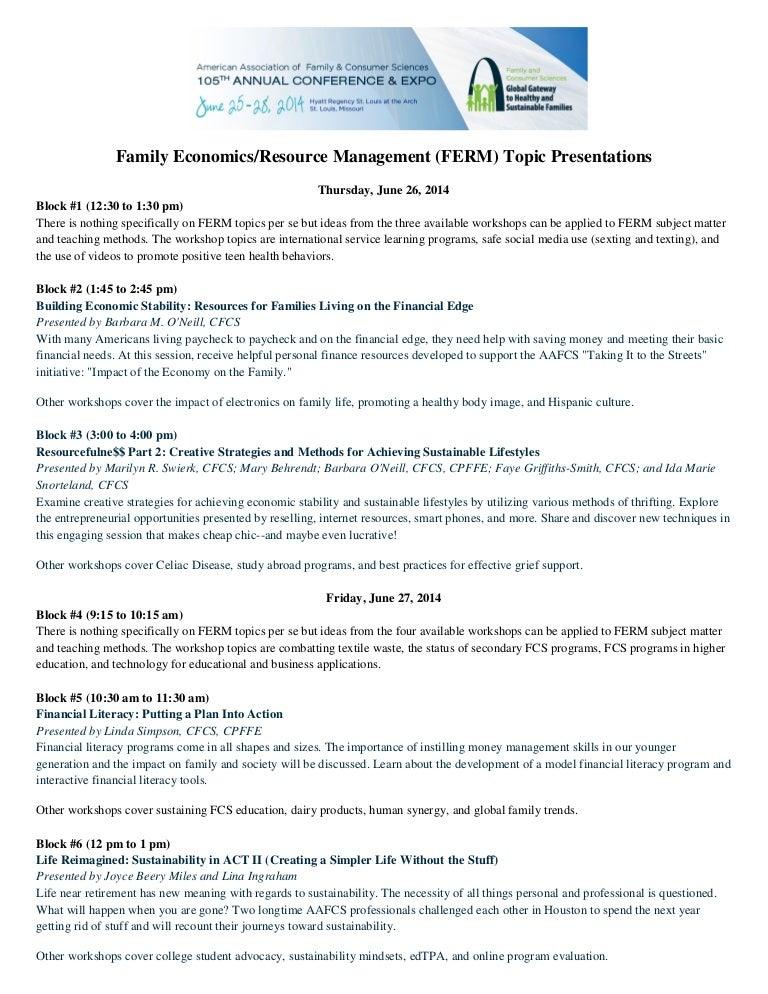 health economics topics for presentation
