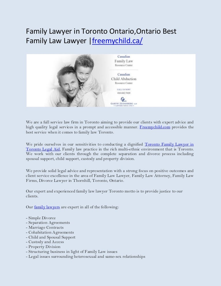 Family lawyer in toronto ontarioontario best family law lawyer free altavistaventures Images