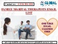 FAMILY MARITAL THERAPISTS EMAIL LIST