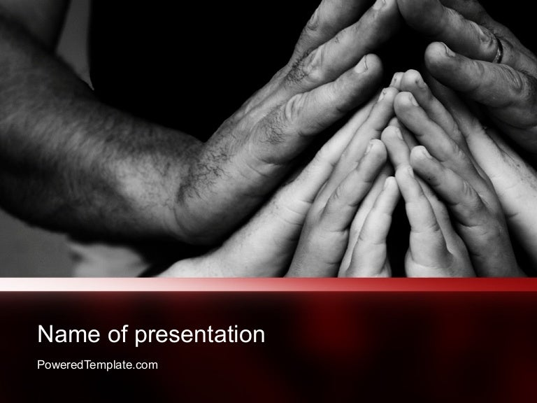 family praying powerpoint template