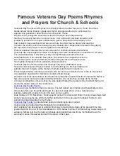 Famous veterans day poems rhymes and prayers for church converted