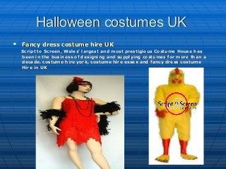 Fancy dress costume hire UK