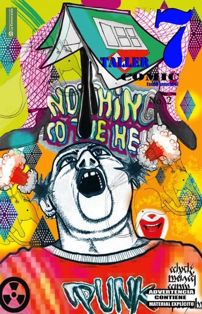 Fanzine colectivo numero 2 taller 7 . comic de la enpeg la esmeralda . edición por ana bell chino
