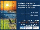Business Models for Smallholder Solar-Powered Irrigation in Ethiopia