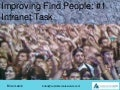 Finding people #1 Intranet task