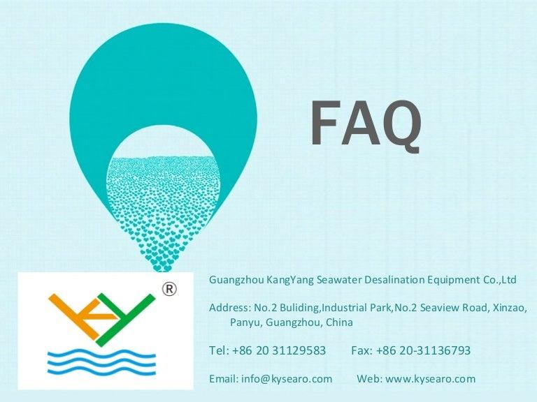 seawater desalination technology FAQ