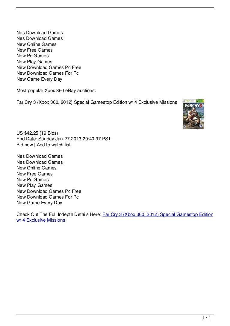 Far Cry 3 (Xbox 360, 2012) Special Gamestop Edition w/ 4