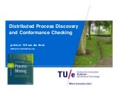 Distributed Process Discovery and Conformance Checking