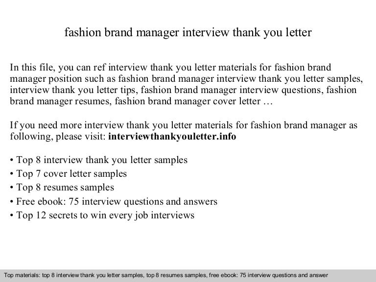Fashion brand manager