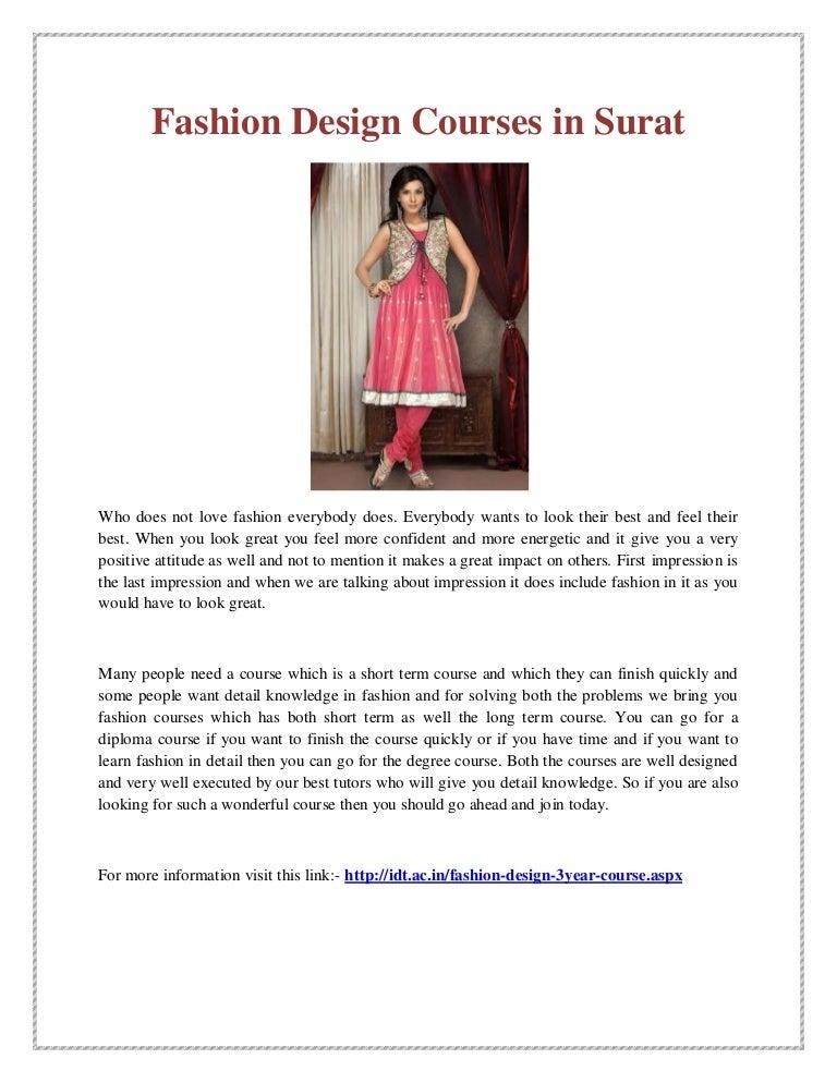 Fashion Design Courses In Surat