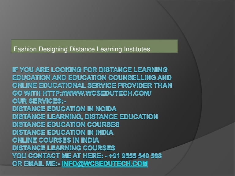 Fashion Designing Distance Learning Institutes12
