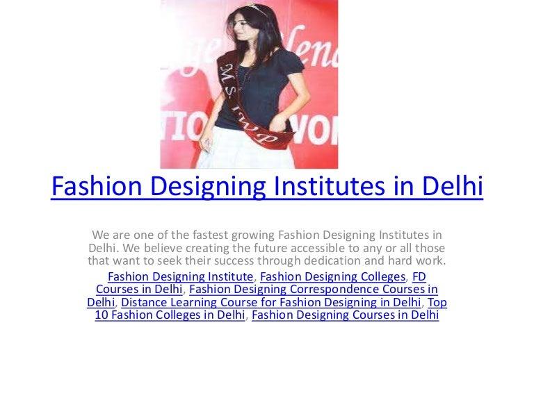 Fashion Designing Institutes In Delhi
