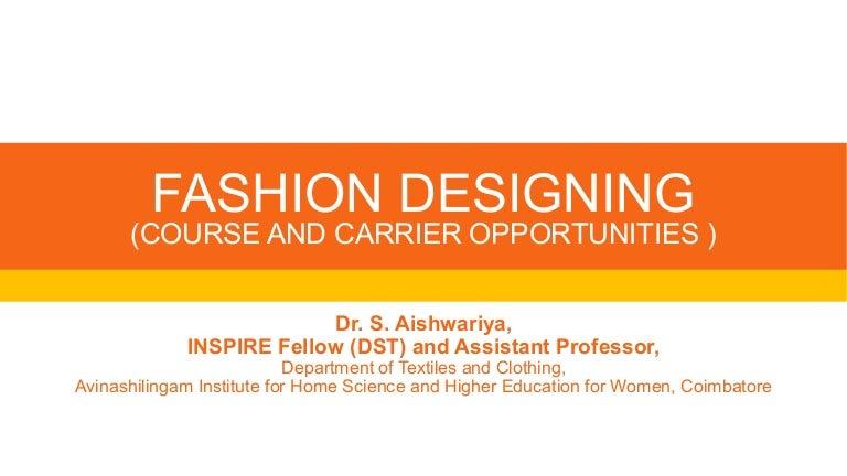 Fashion Designing Job Opportunities Dr Ash