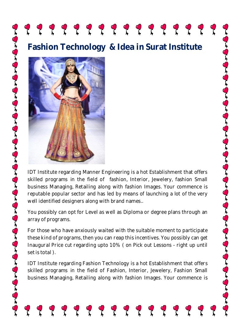 Fashion Technology Idea In Surat Institute
