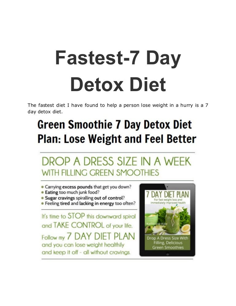 detox diet plan for a week